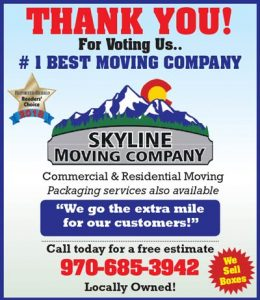Thank You Best Moving Company in Loveland, Colorado Skyline Moving
