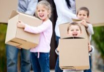Moving Cardboard Box With Kids